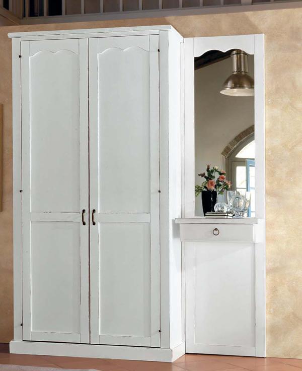 Armadio entrata entrata cabina armadio laccata in bianco con porta scrigno mobili porta abiti - Armadio porta abiti per ingresso ...