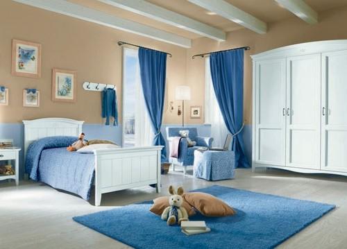 Cameretta Bianca E Azzurra : Camerette eri mobili su misura